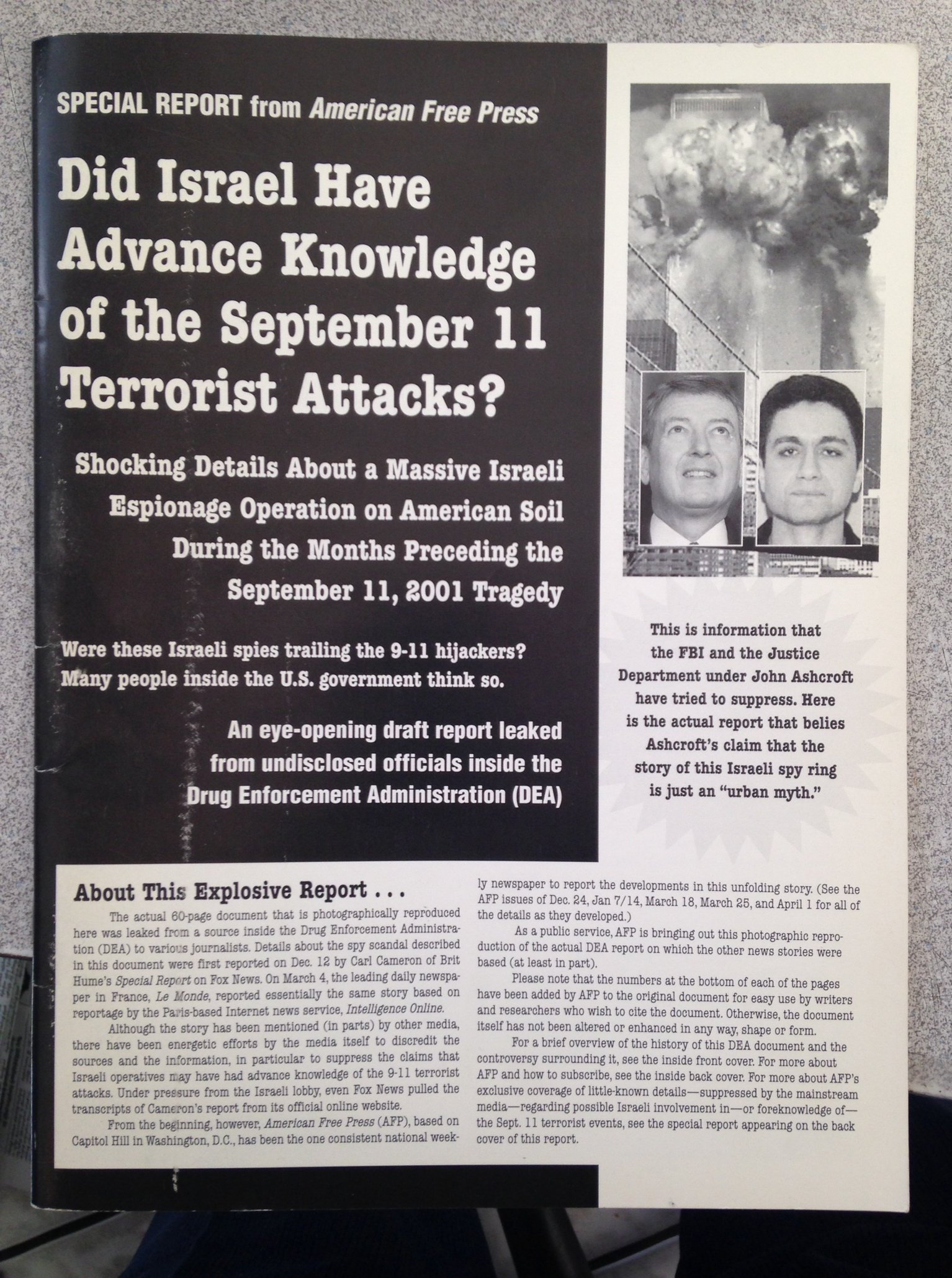 Did Israel Have Advance Knowledge of the September 11 Terrorist Attacks?, American Free Press