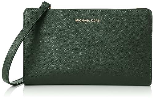 Michael Kors Women s Jet Set Travel Lg Crossbody Clutch bag Green ... 00c8619ba0e05