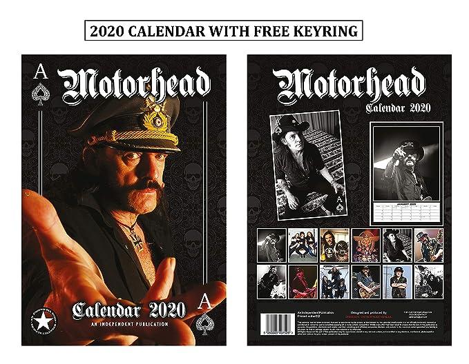Motorhead Calendario 2020 Calendar With Motorhead Llavero ...
