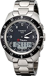 Tissot Mens T0134204405700 T-Touch Expert Pilot Black Touch Analog-Digital Dial Watch