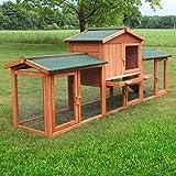 Zooprimus Kaninchenstall 1 XXL Hasenkäfig - HASENSTALL XXL - Stall für Außenbereich (für Kleintiere: Hasen, Kaninchen, Meerschweinchen usw.)