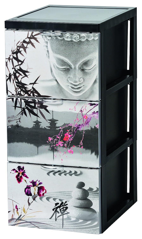 45 L SCF-303 Iris Ohyama plastica Disegno armadietto di immagazzinaggio con Tre cassetti Oggetto Giappone Stile Chest 29 x 39 x 61,5 cm