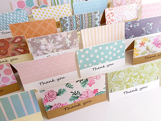 amazon com 2 x 3 5 mini fold thank you cards with envelope note