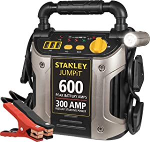 STANLEY J309 Power Station Jump Starter: 600 Peak/300 Instant Amps with Battery Clamps