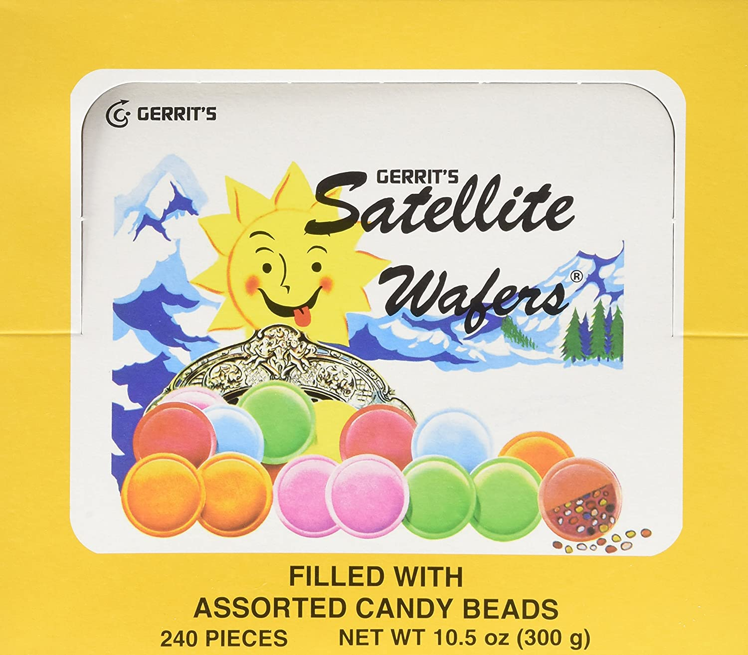 Amazon.com : Satellite Wafers Flying Saucers Candy Old Fashioned 240 ...