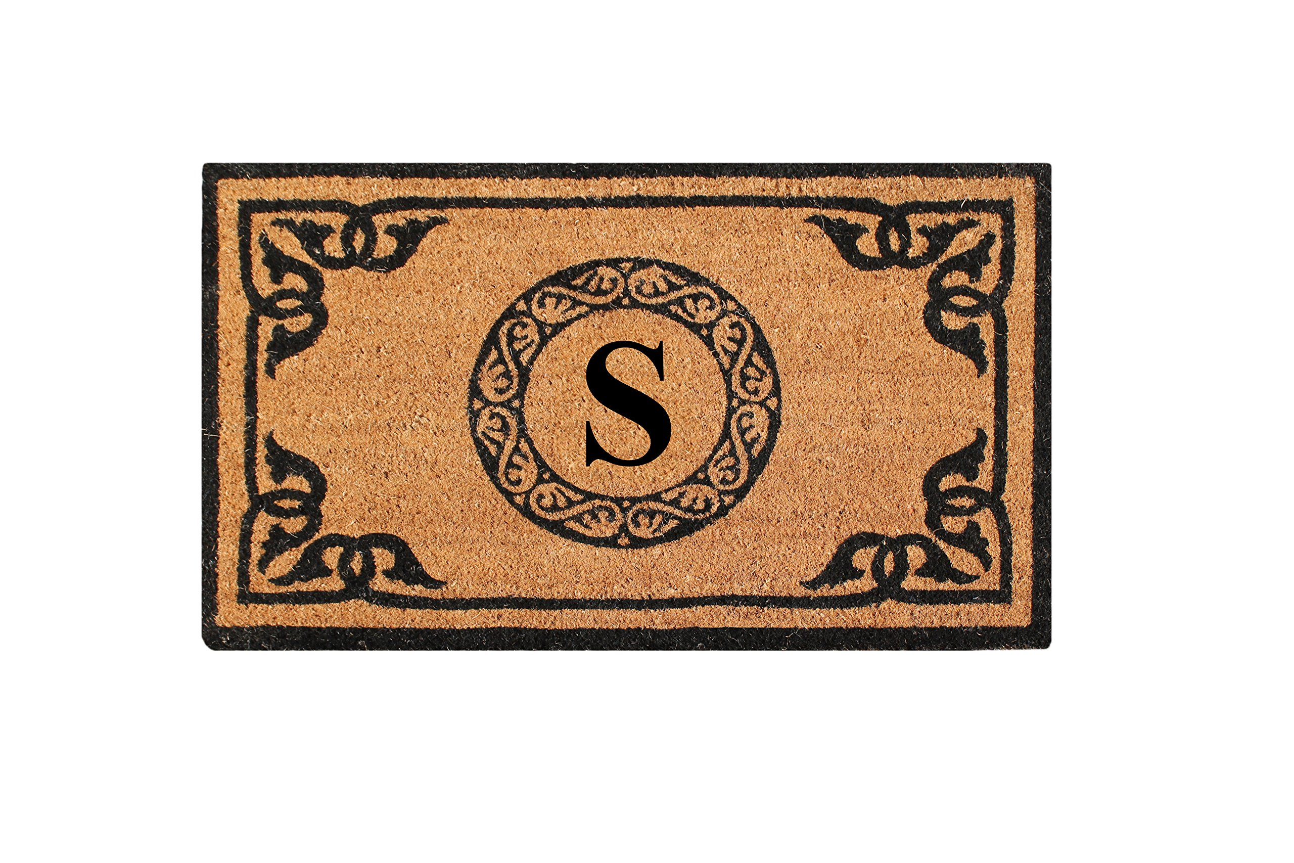 A1 Home Collections PT3006S First Impression Hand Crafted by Artisans Geneva Monogrammed Entry Doormat, 24''X39''
