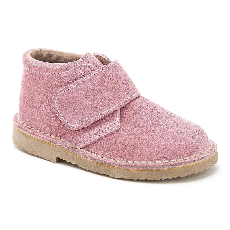 d2ac35cd61cec BOTA SAFARI NIÑA ACOLCHADA VELCRO SERRAJE ROSA  Amazon.es  Zapatos y  complementos