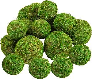 18 Pack Decorative Faux Dried Moss Balls- 6pcs 3.1