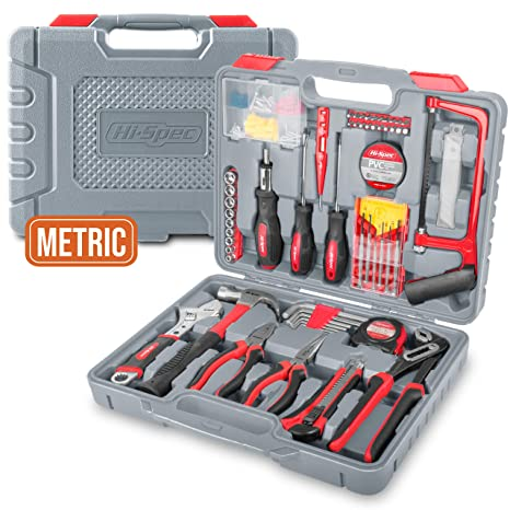 9a191c5cac3 Hi-Spec 120 pc Home   Garage Tool Kit with Long Nose Pliers
