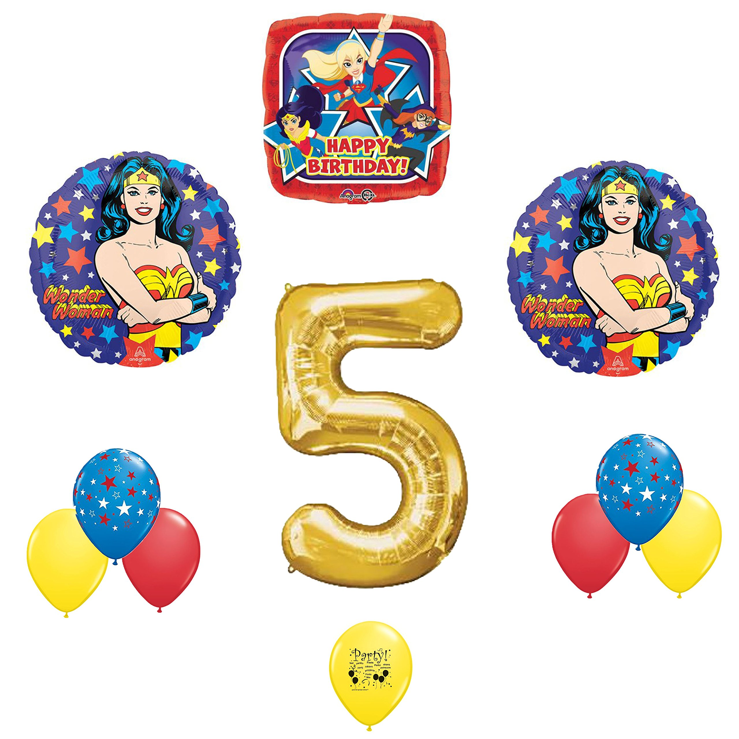 Mayflower Products DC Super Hero Girls 4th Birthday Party Supplies and Balloon Decorations