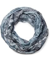 styleBREAKER Paisley Muster Loop Schlauchschal, Crash and Crinkle, seidig leicht, Damen 01016090