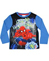 Spiderman Official Boys T-Shirt Long Sleeve Age 3/8 Years
