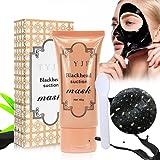 Vassoul Blackhead Remover Mask, Peel Off Mask, Blackhead Peel Off Remover Deep Skin Clean Purifying Acne (Black)