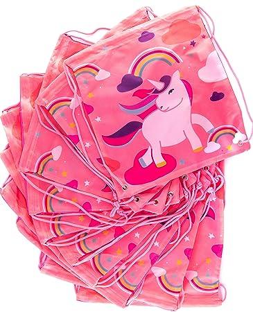 Amazon.com: Unicorn Mochila Fiesta Favores Bolsas 10 Pack ...