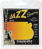 Thomastik-Infeld JS110 Jazz Guitar Swing Series 6 String Set - Pure Nickel Flat Wounds E, B, G, D, A, E Set