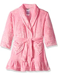 Komar Kids Girls  Big Velvet Fleece Plush Robe Pink 46c33e2eb