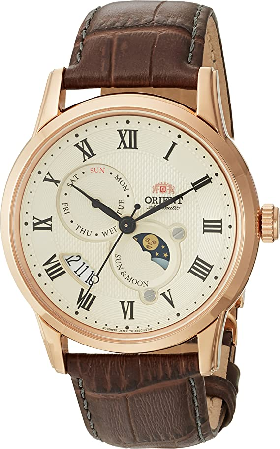 Orient Men's 'Sun and Moon Version 3' Japanese Automatic / Hand-Winding Watch with Sapphire Crystal