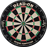 Viper by GLD Products Viper Dead On Sisal/Bristle Steel Tip Dartboard with Staple-Free Bullseye