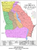 Georgia Map of Original and 1895 Counties and Land Districts