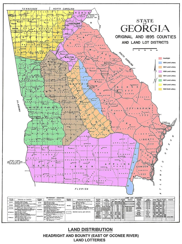 Amazon.com : Georgia Map of Original and 1895 Counties and ... on map of georgia county, map of georgia lakes, map of georgia streams, map of georgia precincts, map of north georgia, map of georgia climate, map of georgia maps, map of ga, map of georgia and florida, map of georgia and south carolina, map of georgia railroads, map of georgia usa, map of northern georgia, map of georgia regional commissions, map of georgia roads, map of georgia country, map of atlanta, printable georgia map with counties, map of georgia cities, map of louisiana parishes,