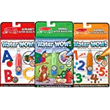 Melissa & Doug On the Go Water Wow! Activity Book, 3-Pack - Animals, Alphabet, and Numbers
