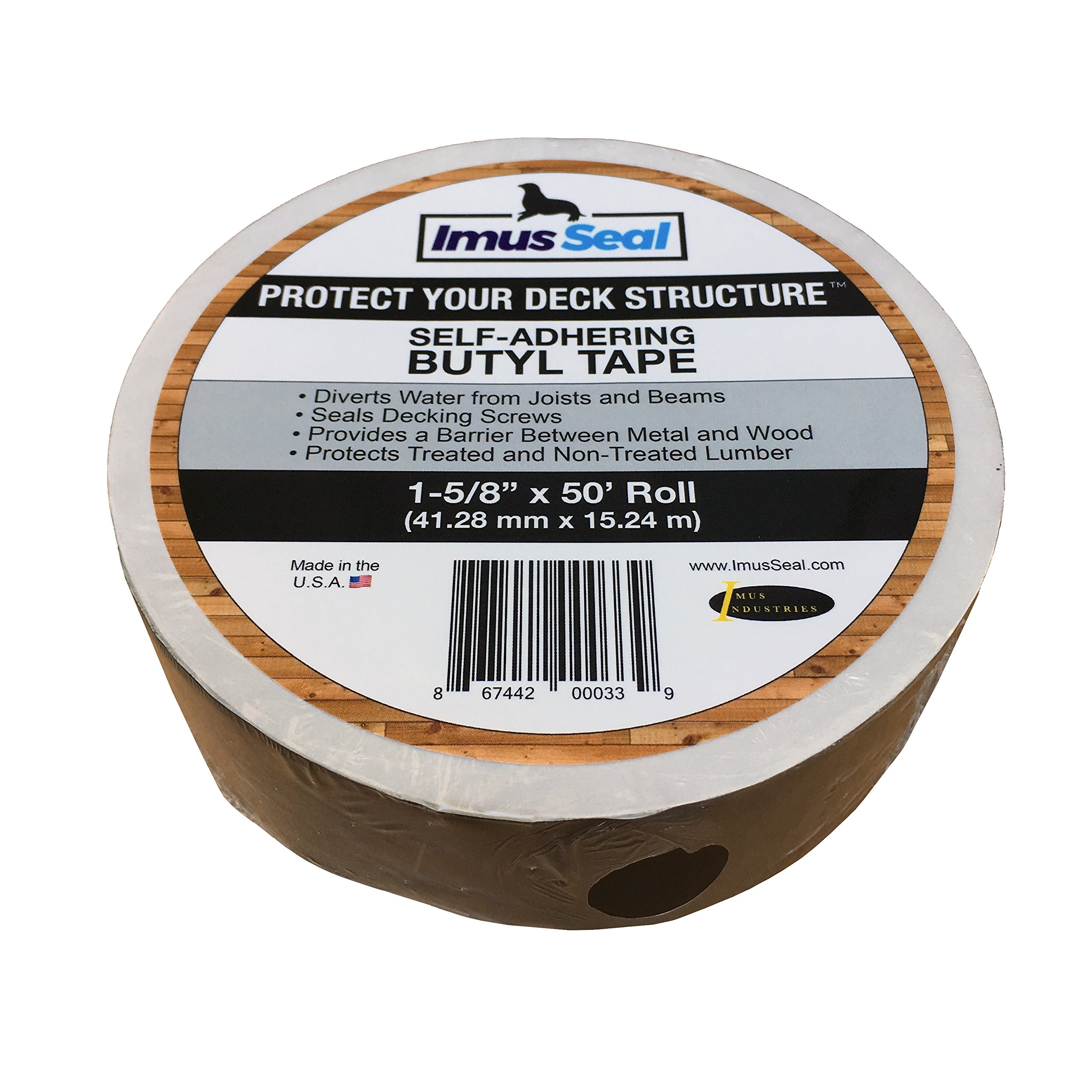 Imus Seal Butyl Tape for Flashing Deck Joists and Beams (1-5/8'' x 50' Roll)