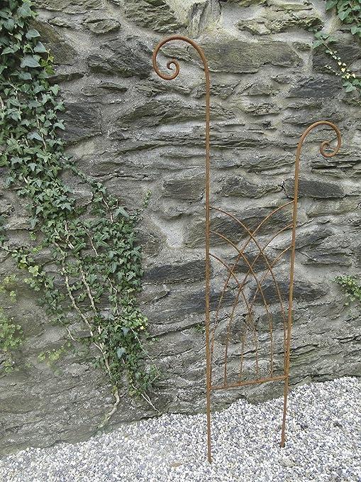 enrejado Rank ayuda celosía metal hierro oxidado (170 cm de alto ...