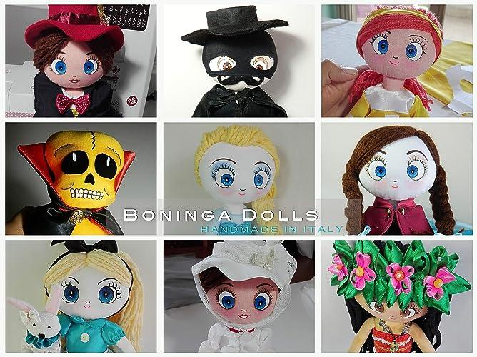 Bambola di stoffa fatta a mano boninga dolls: personaggi dei