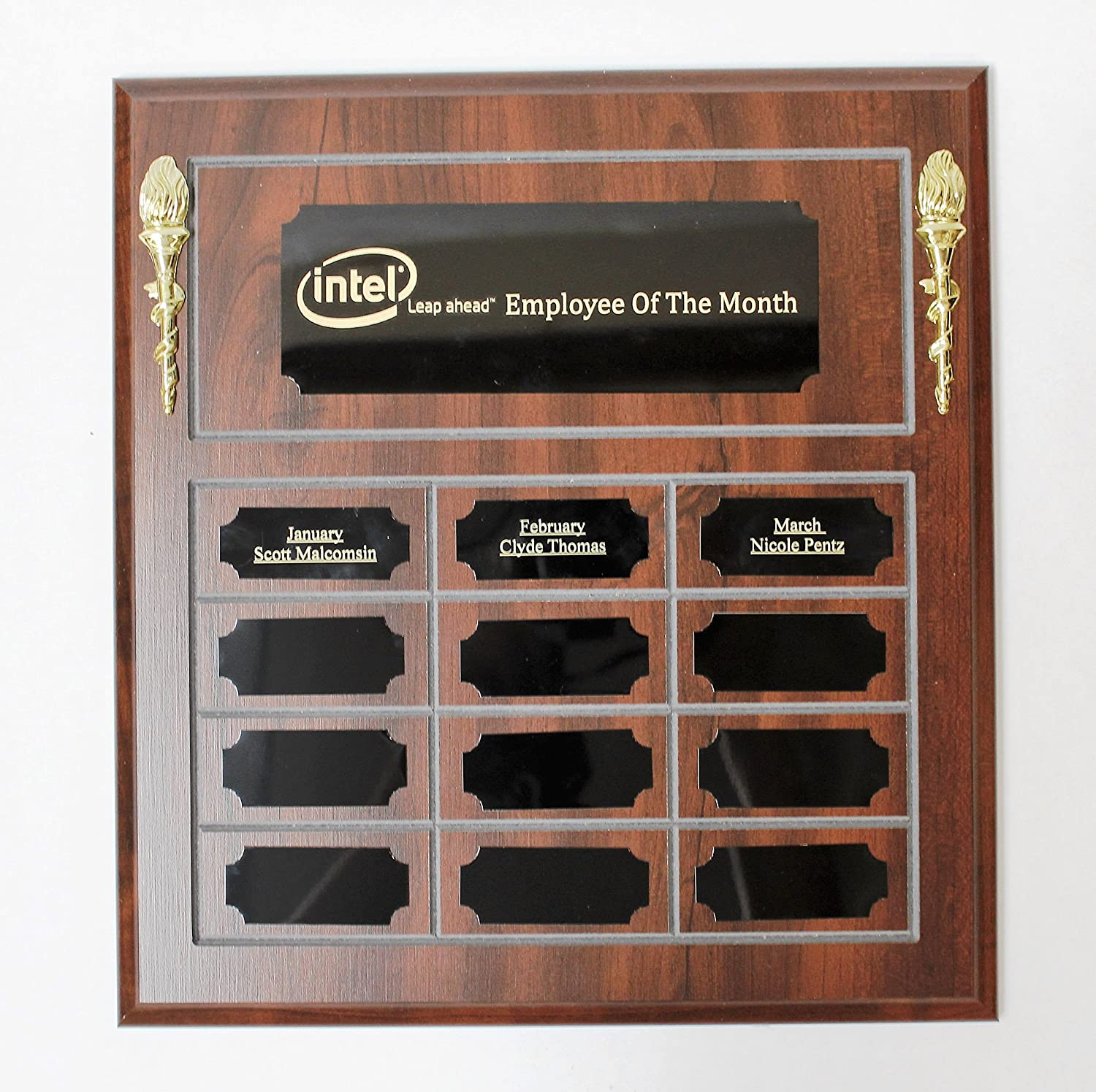 employee of the month plaque template  Amazon.com : Employee Of The Month Perpetual Plaque, Wooden Plaque ...