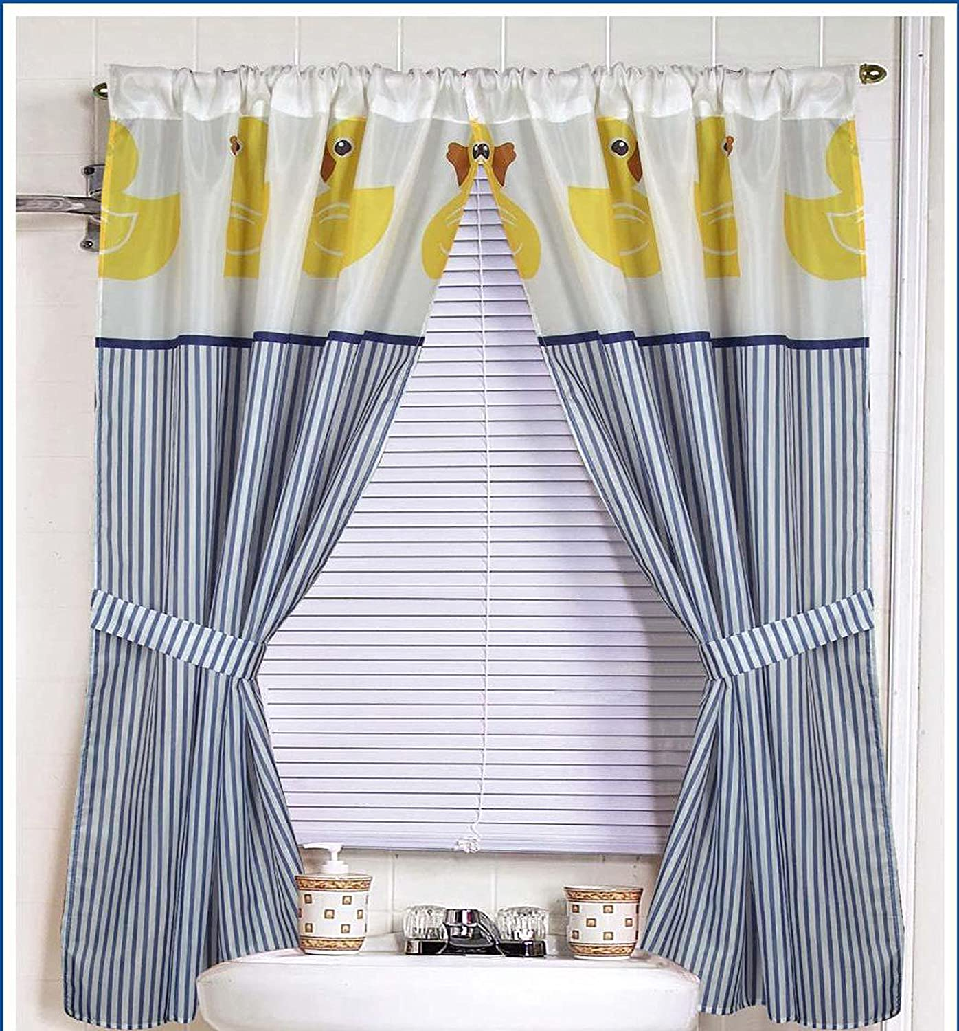 Amazon.com: Yellow Rubber Ducky Window Curtain: Home & Kitchen