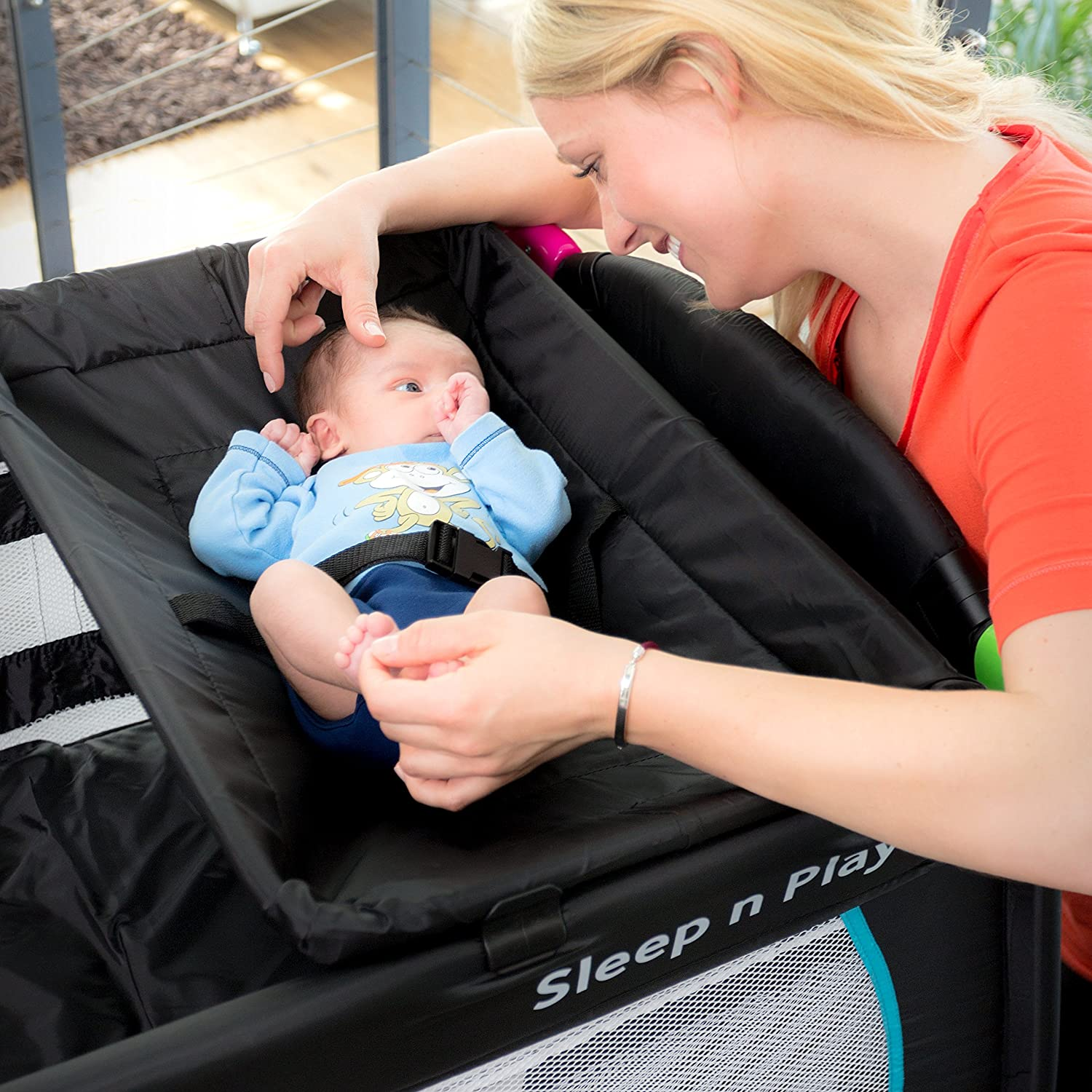 Hauck Sleep N Play Center Travel Cot Multicolour Black Amazoncouk Baby