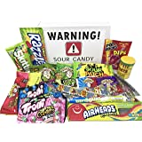 Super Sour Candy Assortment with Toxic Waste, Sour Patch Kids, Warheads Extreme Hard Candy, Belts, Smashups, Straws, Pop…