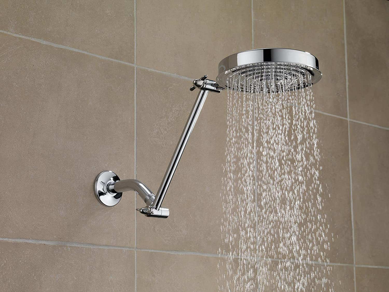 Delta Faucet UA902-PK 10-inch Adjustable Shower Arm, Chrome - Shower ...