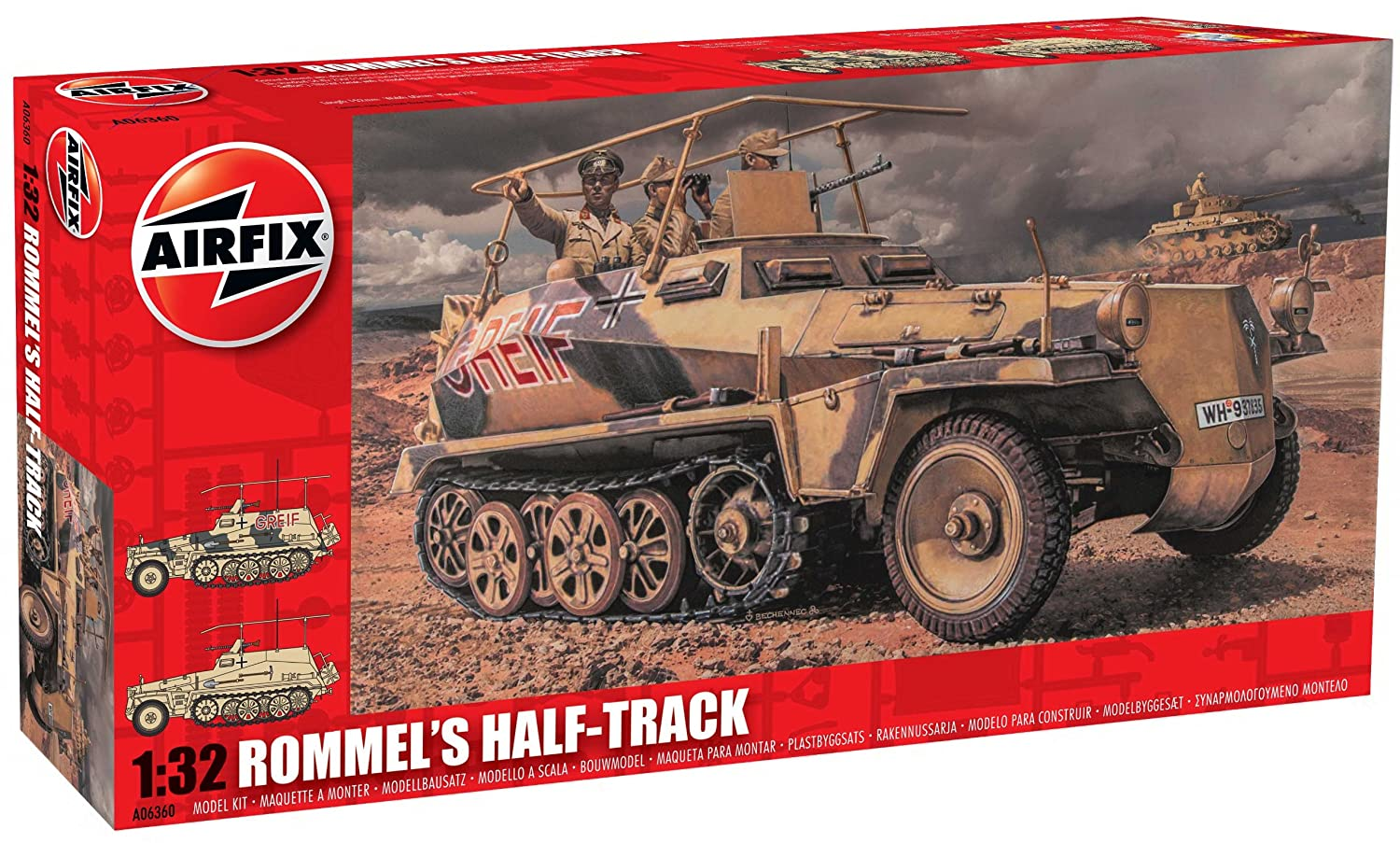 Airfix A06360 Rommels Half Track Set, 1:32 Scale