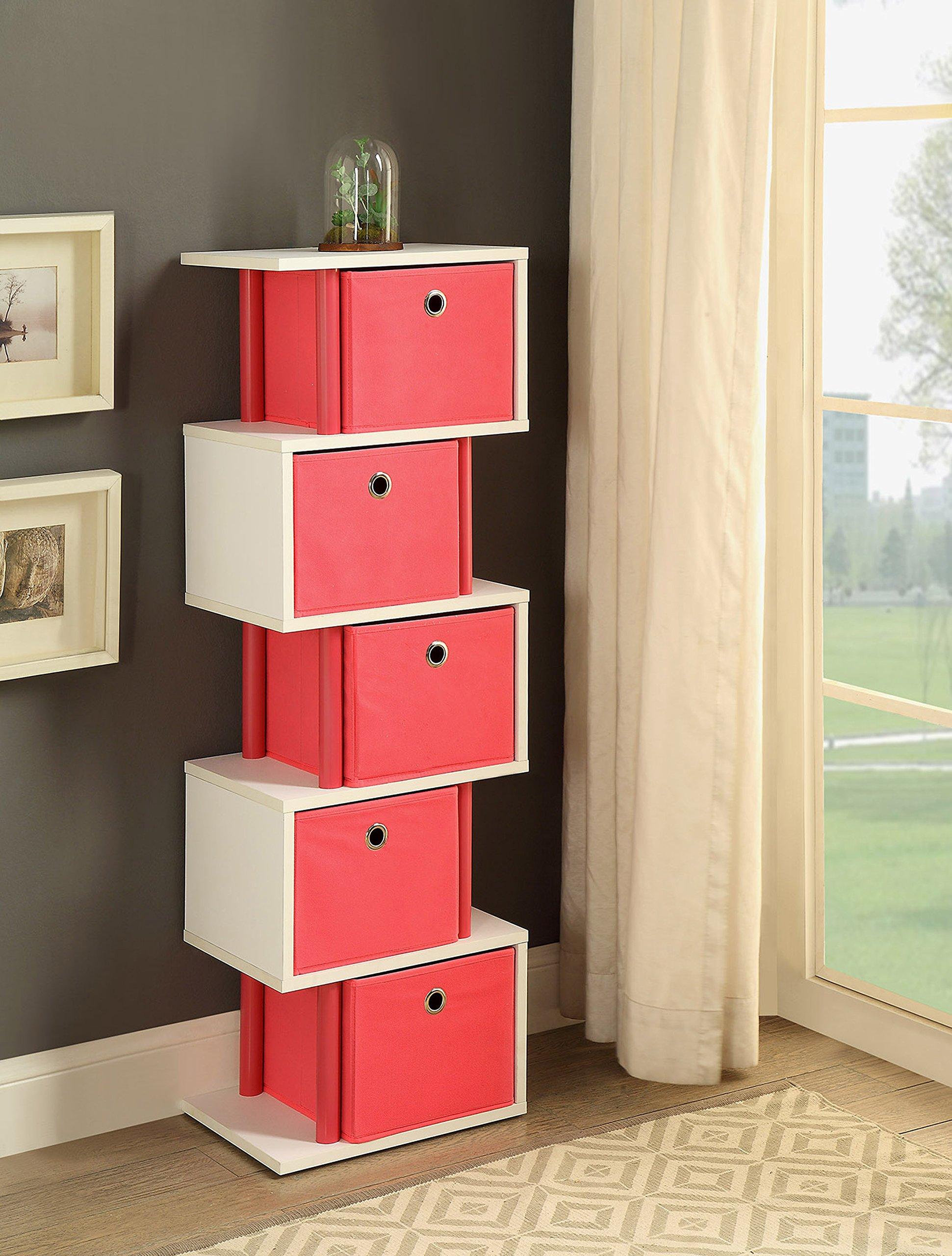 Zig Zag Drawer Storage in Pink