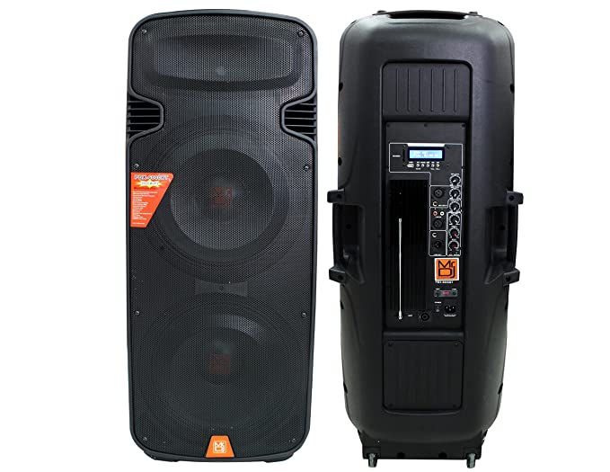 Señor DJ pbx-6000 BT Dual 15 3 Vías altavoz portátil con Bluetooth/USB/FMRADIO funciona con todos los equipos estéreo como Alpine, Kicker, Kenwood, ...