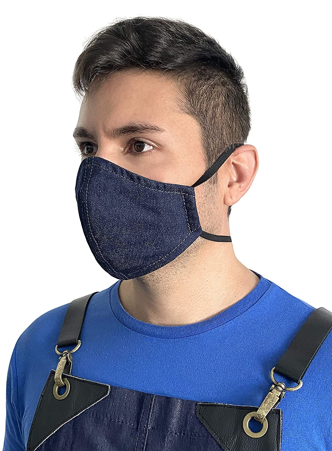 Amazon Com Face Mask Over The Head Elastic Loop Double Layer