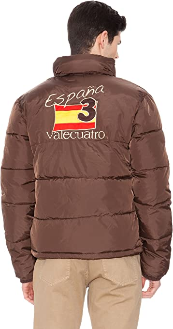 Valecuatro Chaqueta Plumífero marrón S: Amazon.es: Ropa y accesorios