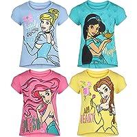 Princess Belle Ariel Cinderella Jasmine 4 Pack Tee