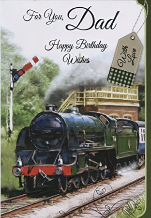 For you dad happy birthday wishes steam enginetrain birthday for you dad happy birthday wishes steam enginetrain birthday card bookmarktalkfo Image collections