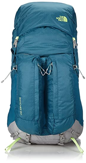 04ac6c7d231 The North Face Women's Banchee 50 Backpack - Coral/Green/Blue Coral/Budding