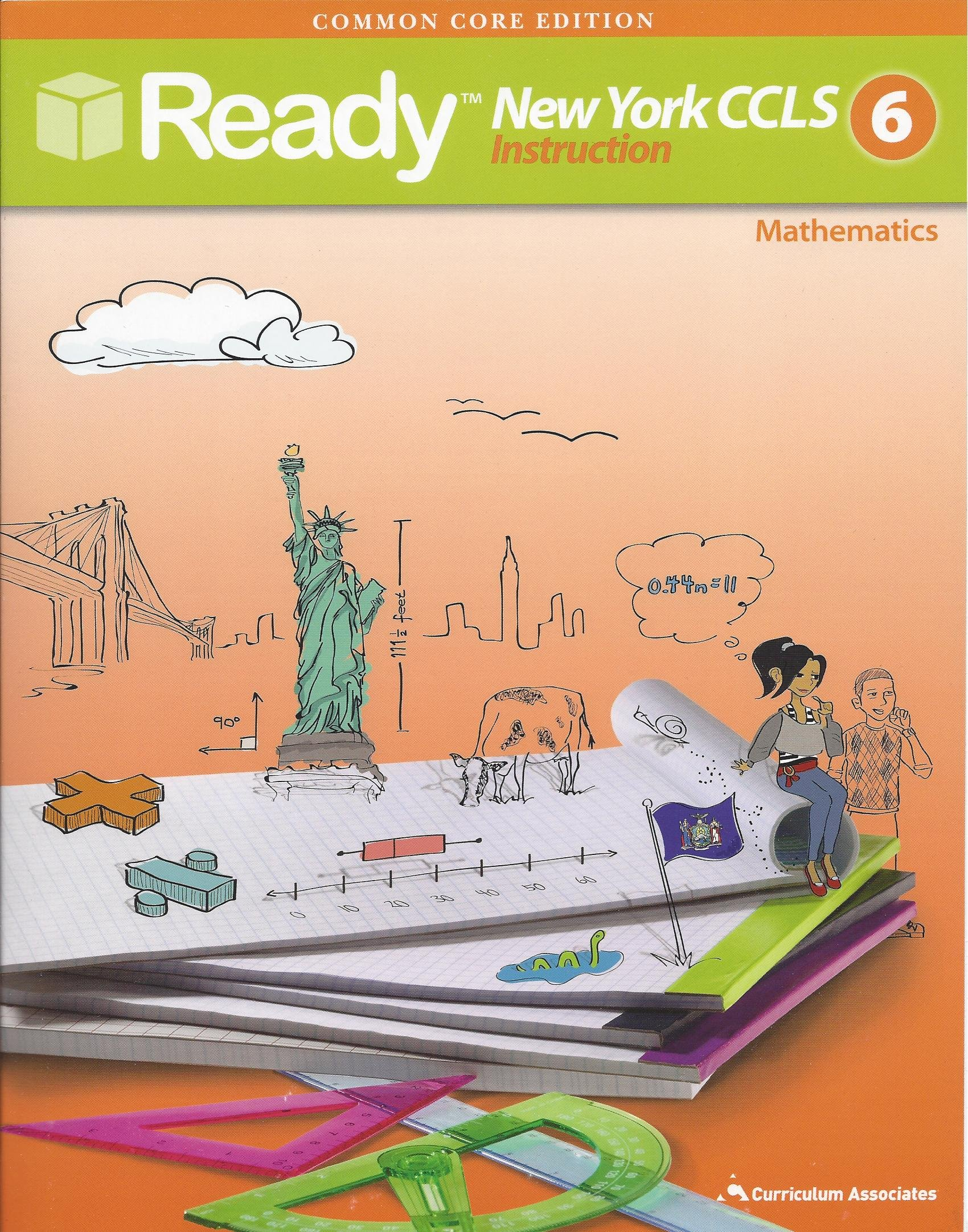Amazon Com Ready Common Core New York Ccls Grade 6 Mathematics Ready 9780760978344 Books