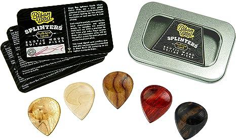 Púas para guitarra en madera – Astillas (Splinters) por Bison Boa ...