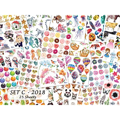 Violette Stickers Set C Sticker Collection - 25 Sheets: Office Products