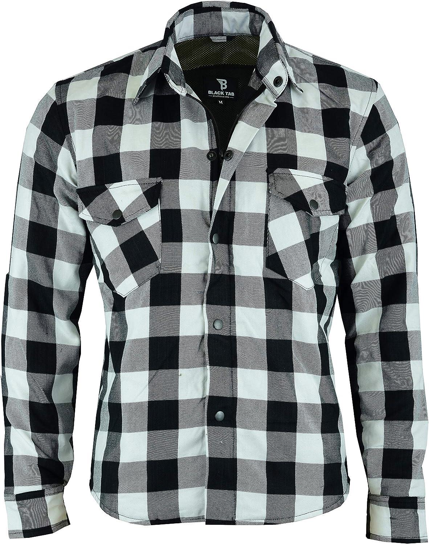 BUSA Black Tab Veste en jean renforc/é Moto avec doublure de protection en aramide Kevlar CE 5 point 101cm