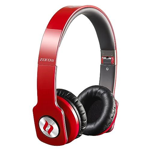 Noontec Zoro HD Auriculares de diadema cerrados con micrófono rojo