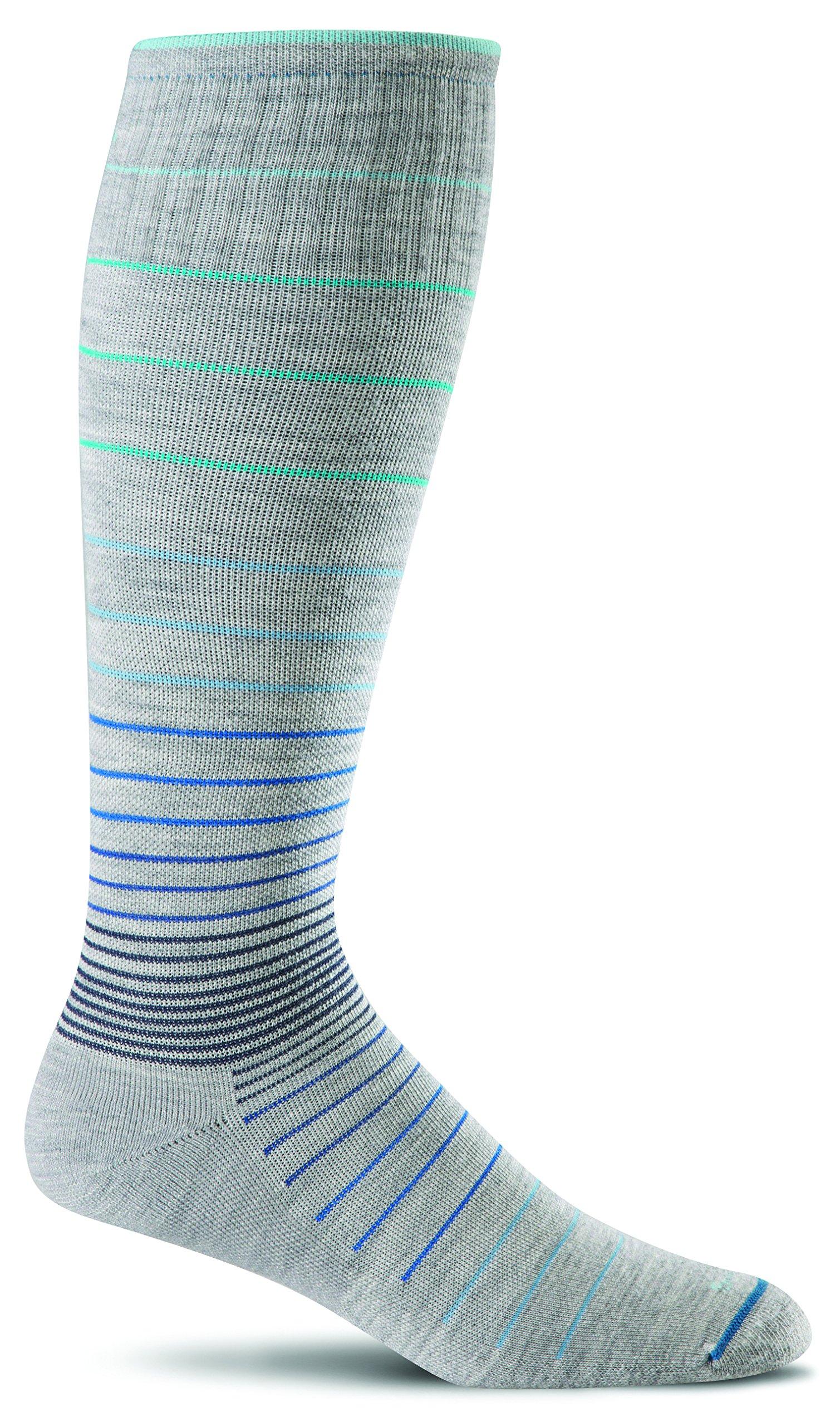 Sockwell Women's Circulator Graduated Compression Socks, Small/Medium (4-7.5) Grey