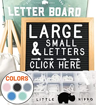 Amazon.com: Felt Letter Board 10x10 PRE-Cut Letters Stand ...