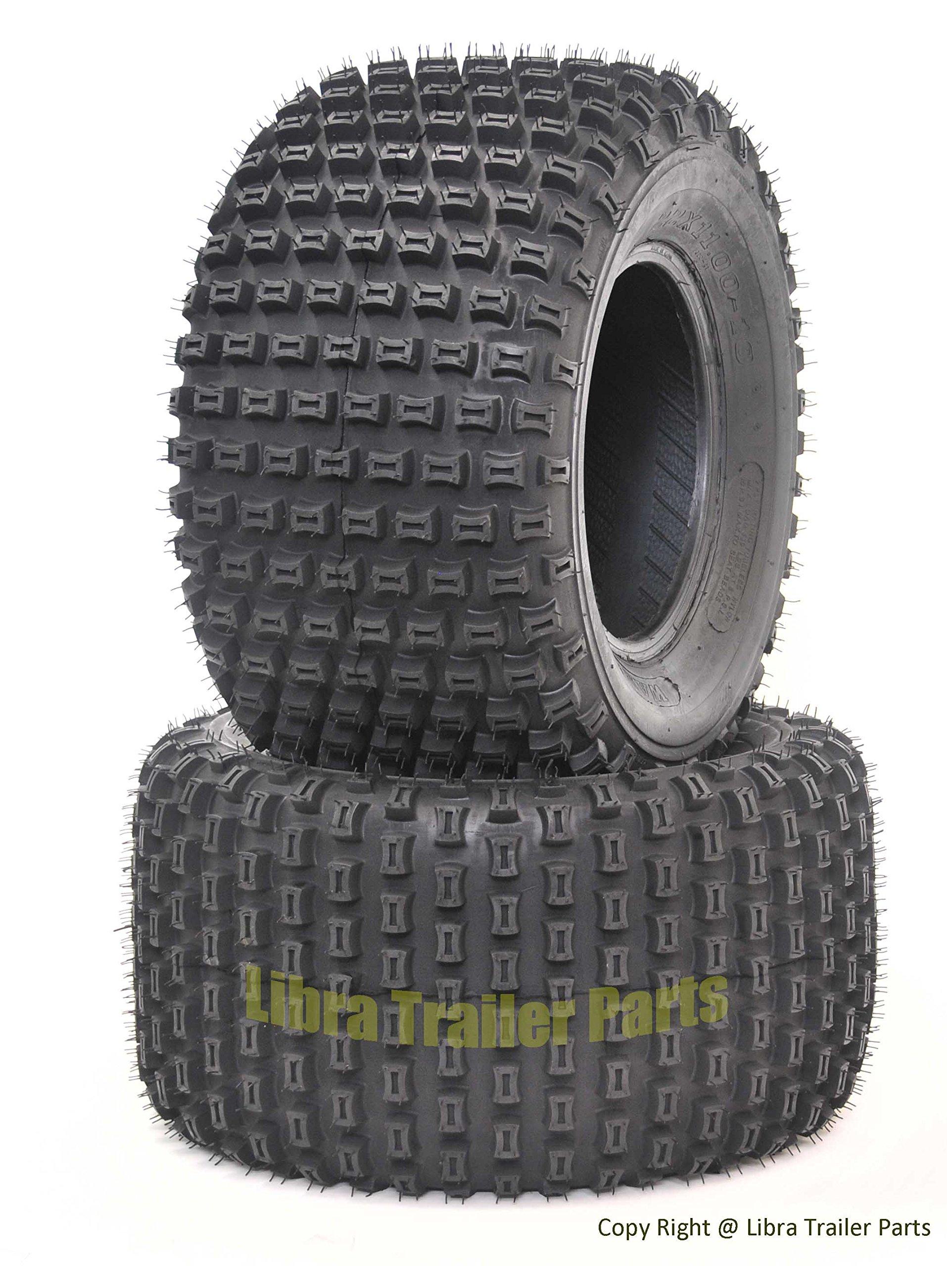 2 New WANDA ATV Tires 22X11-10 4PR P322 Dimple Knobby - 10029