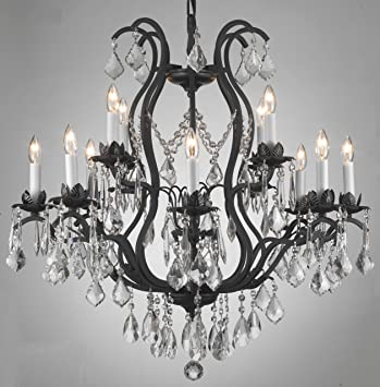 Wrought iron crystal chandelier chandeliers lighting ceiling light wrought iron crystal chandelier chandeliers lighting ceiling light lamp hanging fixture 230v h 7620 cm x mozeypictures Choice Image